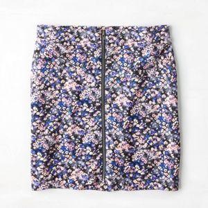 AE Full Zip Floral Mini Skirt